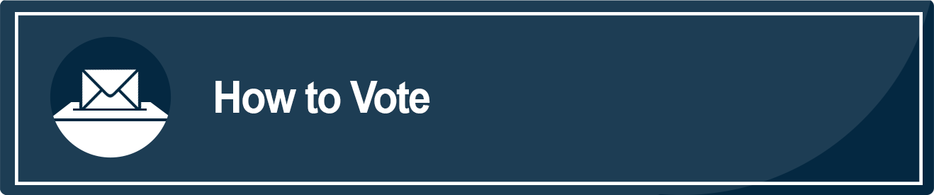This is an image of a blue rectangle with the words How to Vote in white. This image takes the user to a webpage with voting options in Sacramento County.