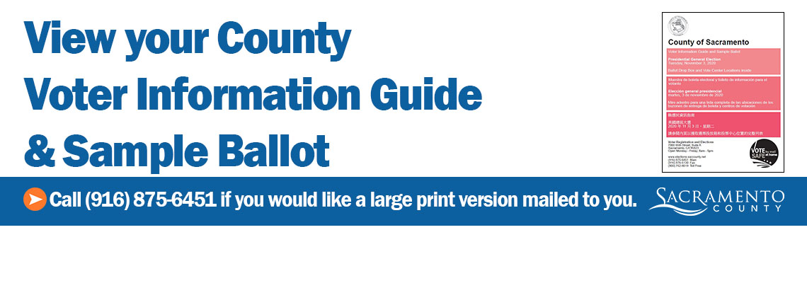 View Your County Voter Information Guide and Sample Ballot