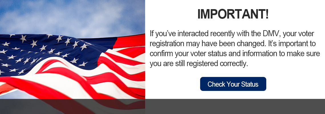 Interacting with DMV may change your registration. Check Your Status