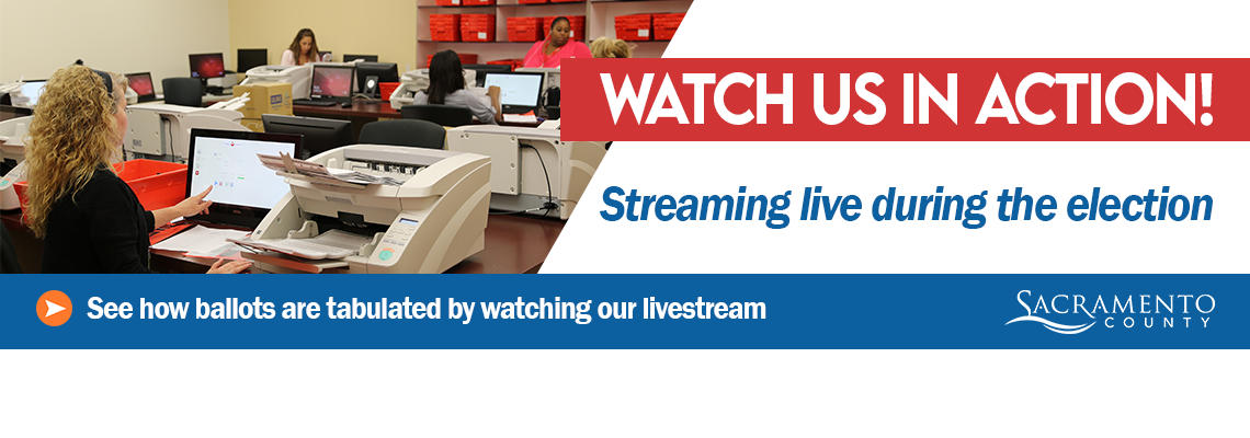 Live Video Feed of Election Ballot Tabulation