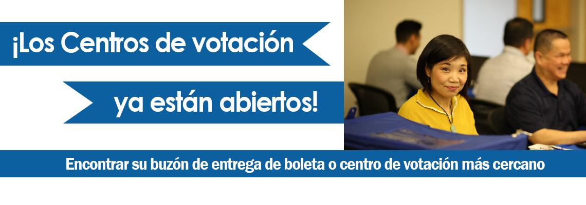 Los centros de votación están abiertos